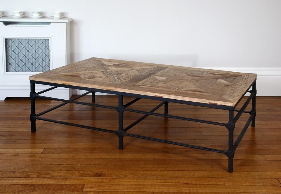Reclaimed Wood Metal Coffee Table.Hoxton Reclaimed Wood And Metal Coffee Table