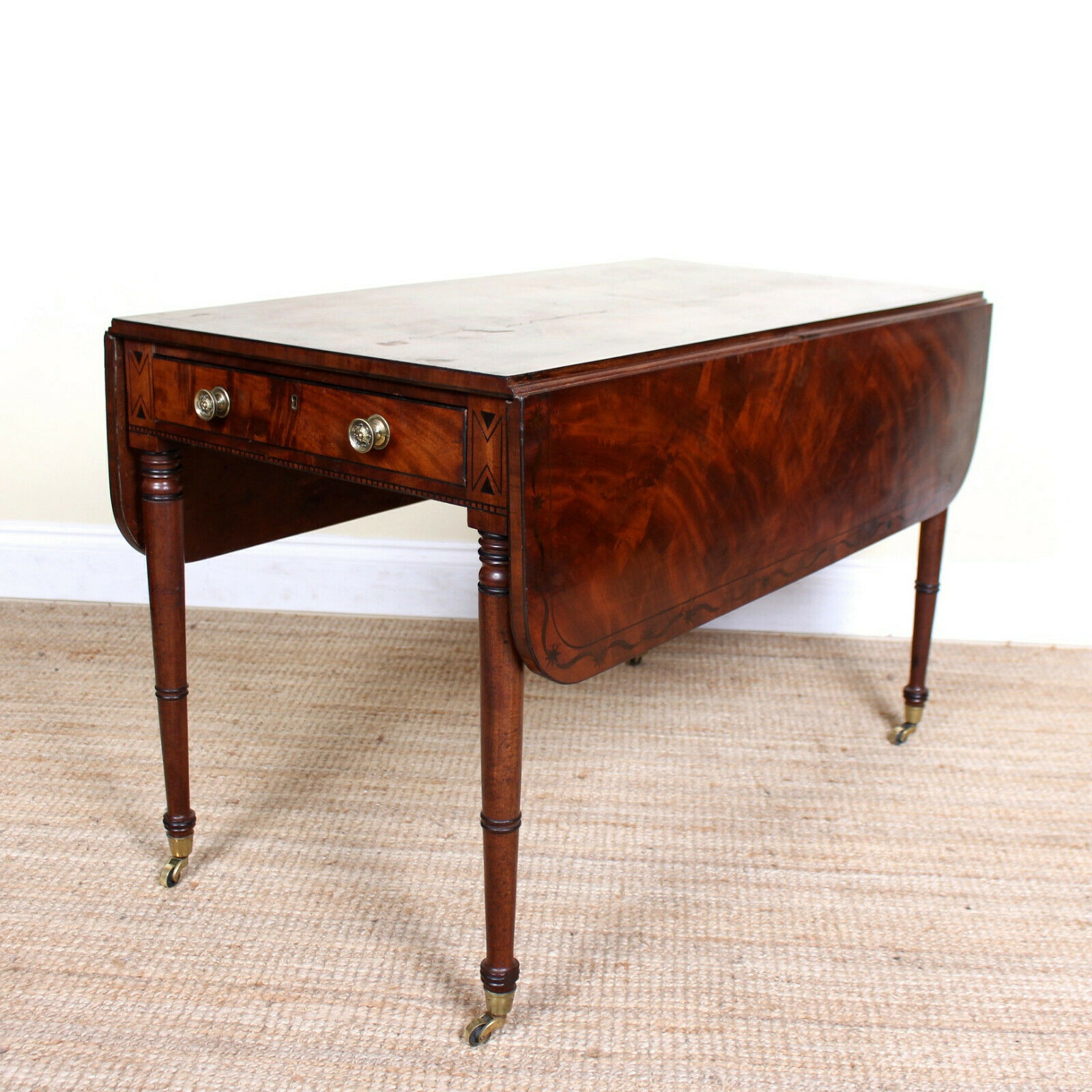 Antique Rosewood Dropleaf Dining Table