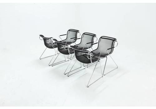 Set Of 6 Penelope Dining Chairs By Charles Pollock For Castelli 1980s