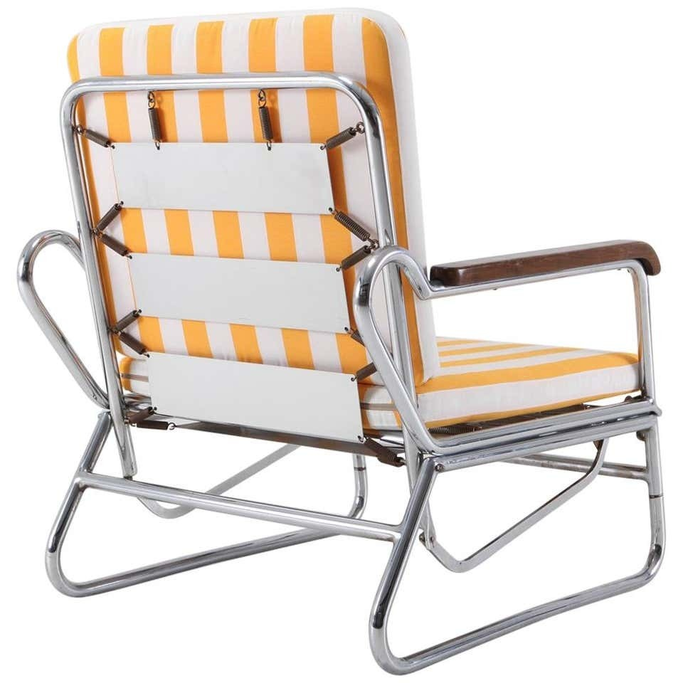 Tubular Chrome Lounge Chair, 1950s, Italy