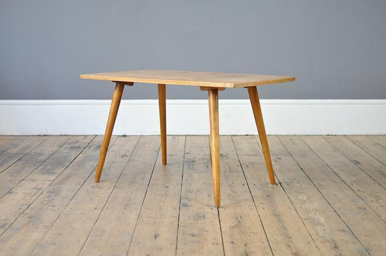 Beech Coffee Table With Flared Legs photo 1