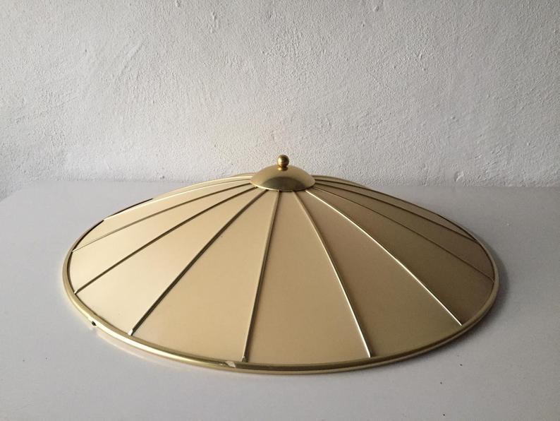 Xxl Erco Mid Century Modern Ceiling Lamp Brass Frame Bakelit Base 1950s Germany Xxl Erco Vinterior