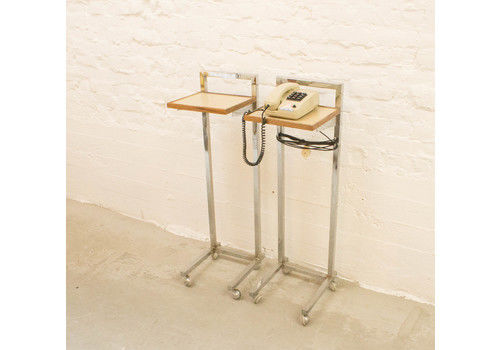 Vintage Industrial Telephone Table