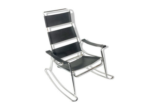 Leather And Metal Rocking Chair Marcel Breuer