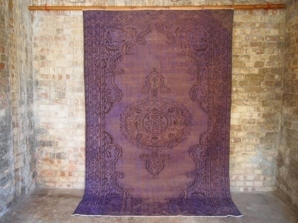 Lavender Vintage Over Dyed Turkish Rug photo 1
