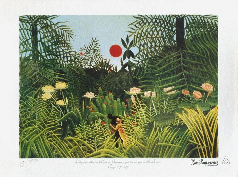 Le Douanier Rousseau After Lithography Landscape From The Virgin Forest