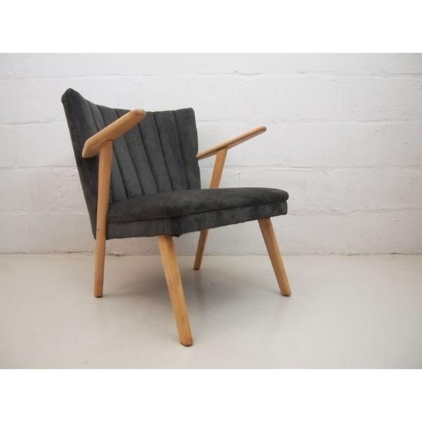 Vintage Grey Danish Cocktail Chair photo 1