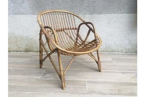 Armchair Vintage Rattan Shell photo