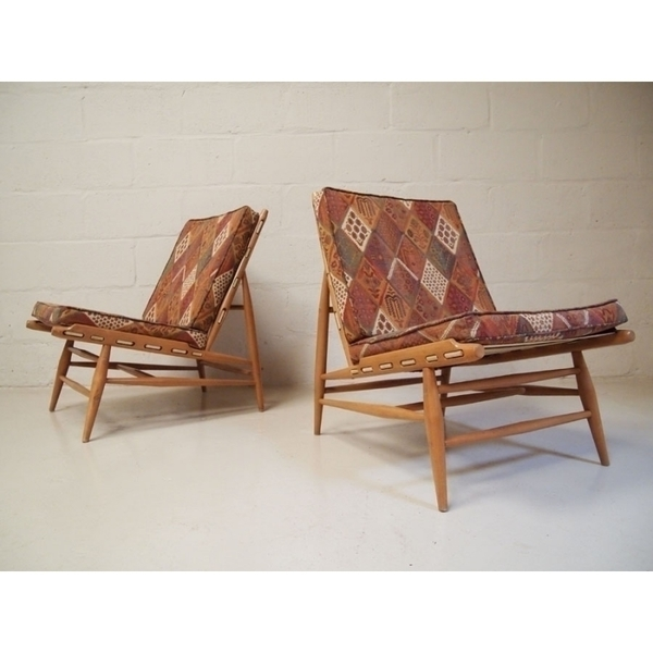 Pair Of Ercol 427 Lounge Chairs