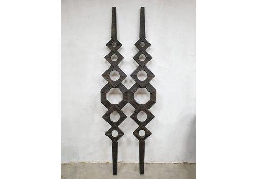 Vintage Metal Wall Art Sculpture Wall Decoration 'Brutalism