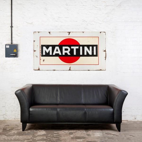 Unusually Large Martini Enamel Sign