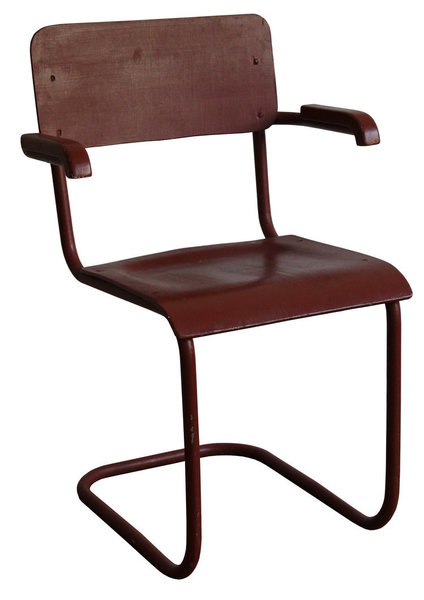 Red Modernist Cantilever Chair
