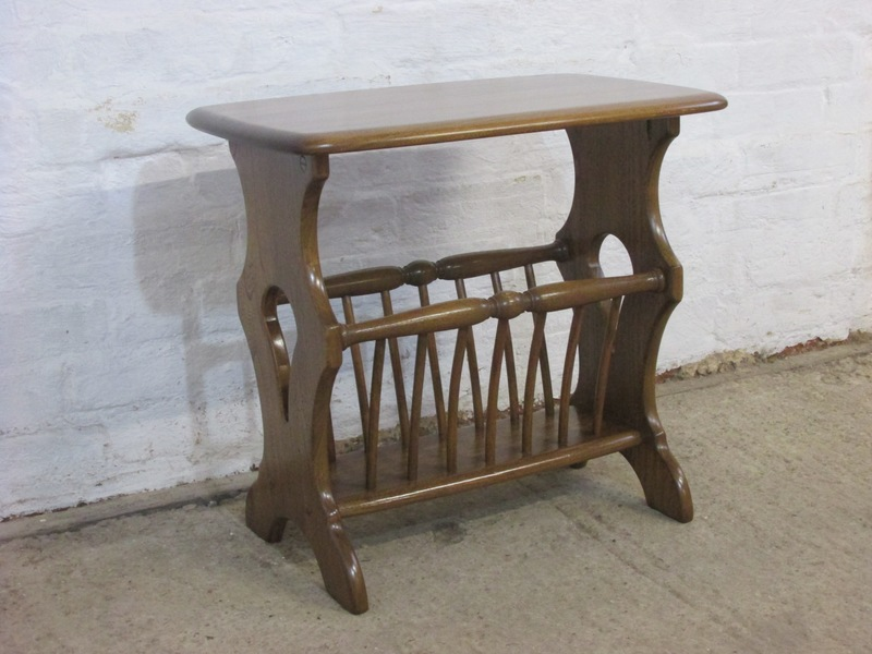 Ercol Windsor Golden Dawn Beech And Elm Small Side Table Magazine Rack