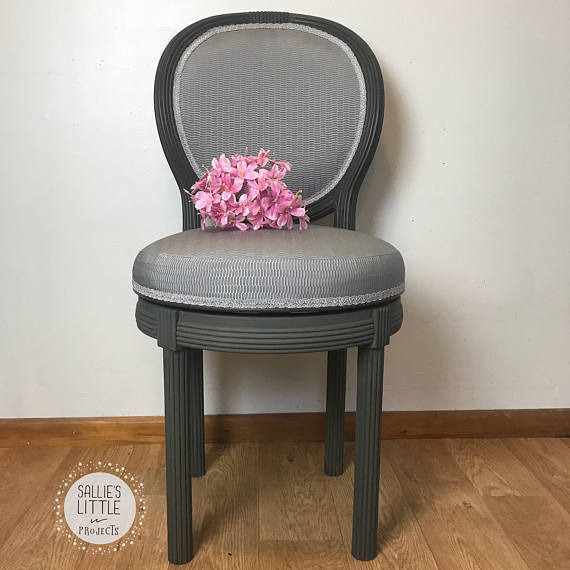 Grey Swivel Armchair