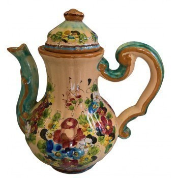 Vintage Italian Faenza Majolica Coffee Pot Signed By Morelli