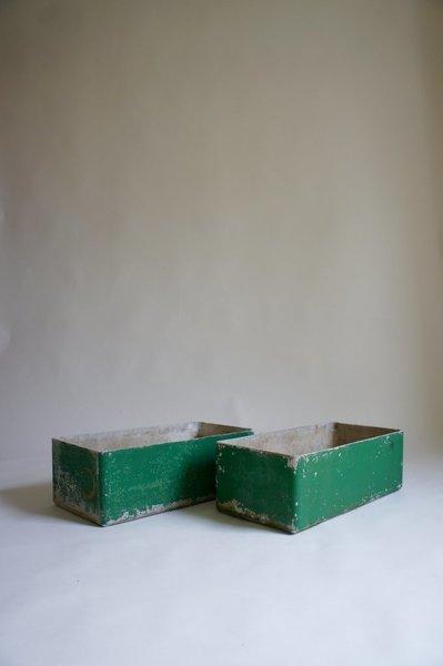 Green Patina Planters