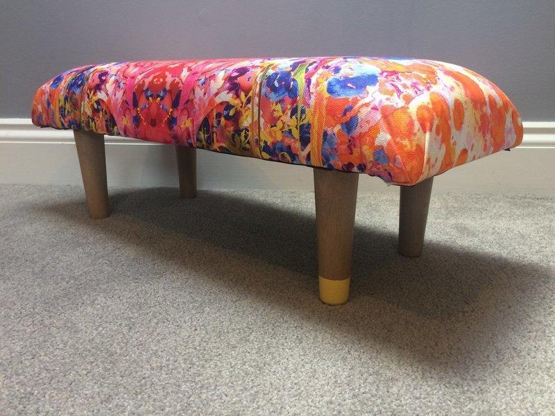 Upholstered Omni Splatt Foot Stool