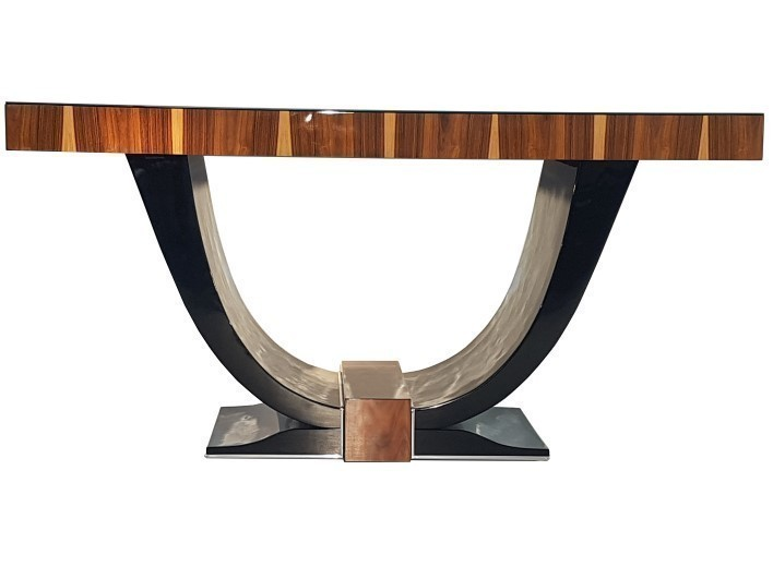 Art Deco Gondola Table With Rosewood