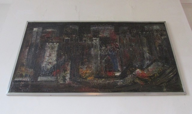 Large Vintage Oil On Board Painting Piper 50's/60's