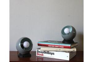 Thumb pair of original swedish abo randers grey magnetic bubble lamps 0