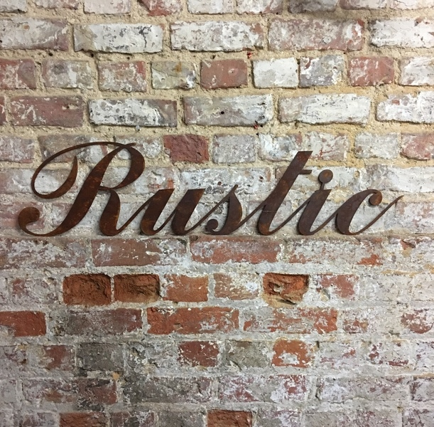 Rusted Rustic Lettering Letters Sign Metal Home Bar Pub Vintage Wedding Pub Beer Free Delivery