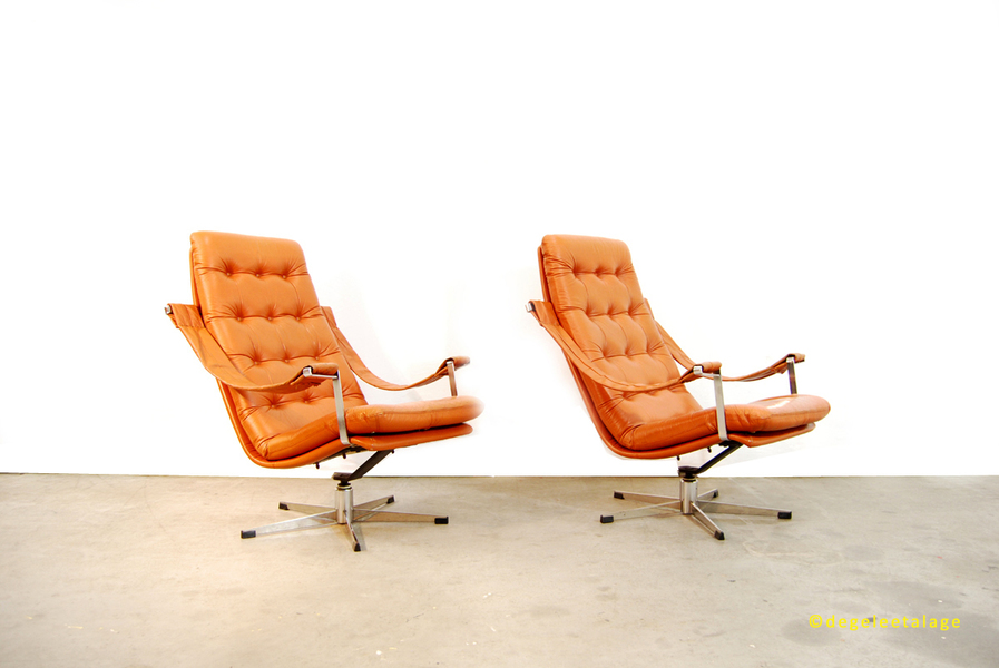 Lounge Chairs & Ottoman By Geoffrey Harcourt For Artifort, 1960s, Set