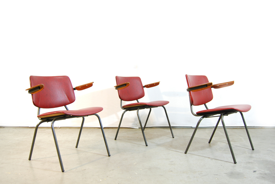 Dutch Industrial Chairs By Kho Liang Ie & J Ruigrok For Car Katwijk, 1960s