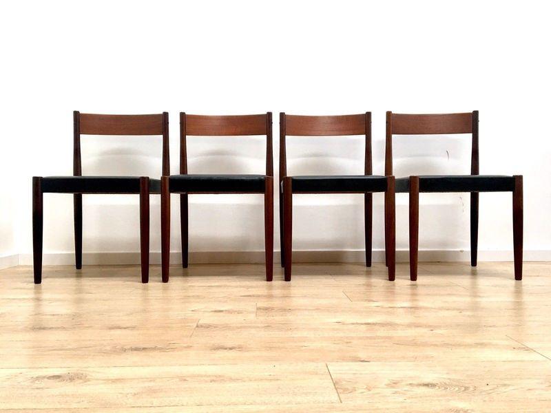 Mid Century Danish Teak Dining Chairs By Frem Rojle
