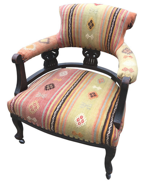 Kilim Covered Armchair