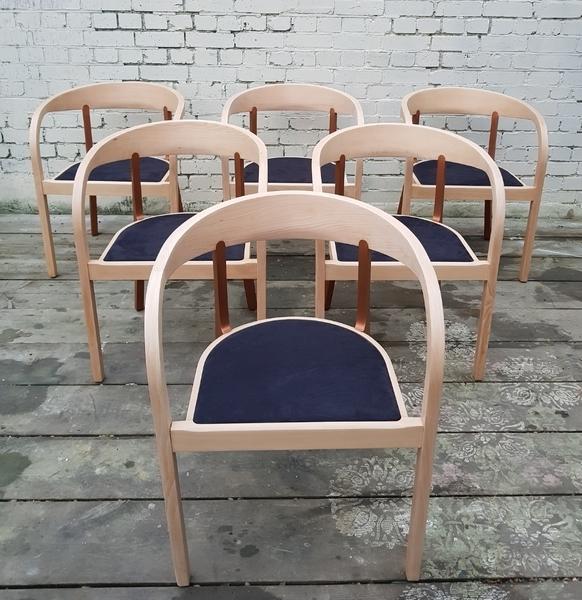 Six Getama Danish Dining Chairs Designer O&M Ge222
