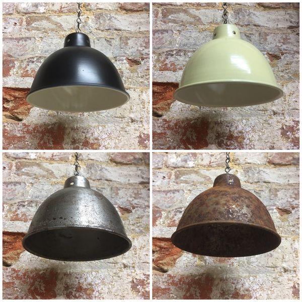 Small Classic Designer Enamel Metal Pendant Lampshade