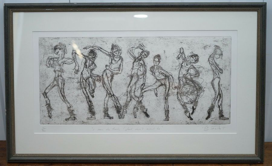 """Bryan Talbot Print 15/40 Ballet Ballerina """"I Can Do That But I Don't Want To"""""""