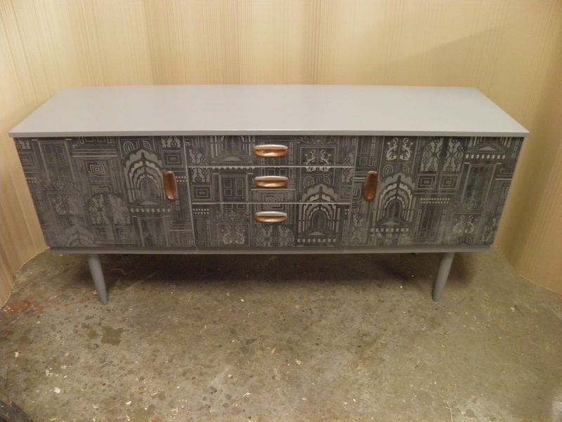 Decorative Upcycled Retro Schreiber Accent Sideboard