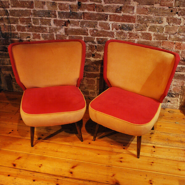 Pair Of Velvet Cocktail Chairs