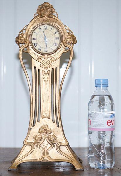 Good Looking Rare Art Nouveau Mantle Clock Gilt Liberty's Archibald Knox Style