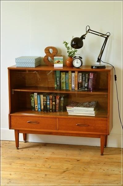 Mid Century Teak Sideboard / Bookcase By Jentique Danish Design Vintage