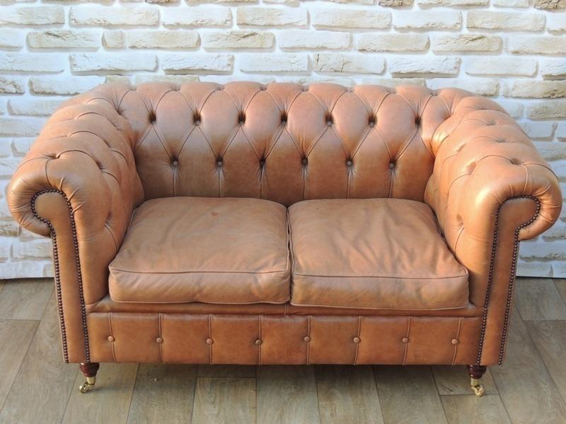 Unique Rare Find Chesterfield Sofa On Castors