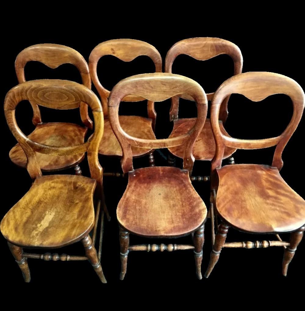 Victorian Kitchen Chairs, Set Of 8 C8