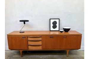 Vintage Greaves & Thomas Teak Sideboard. Danish Retro G Plan Mid Century. photo