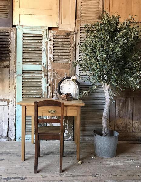 Vintage French Solid Pine Desk