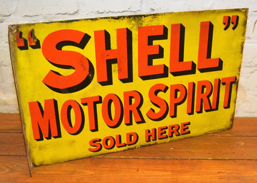 Shell Motor Spirit 1930s Advertising Enamel Sign