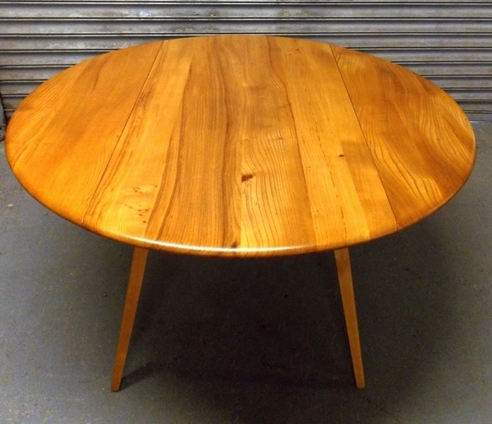 Ercol Drop Leaf Dining Table 384 Elm & Beech 1960s
