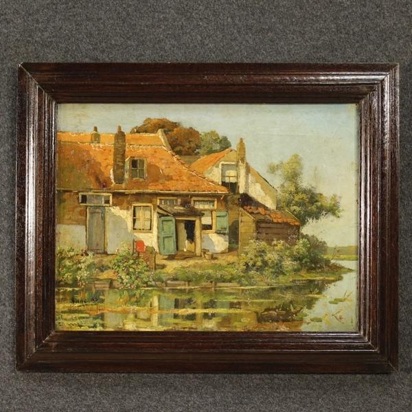 Flemish Signed Painting Depicting Landscape
