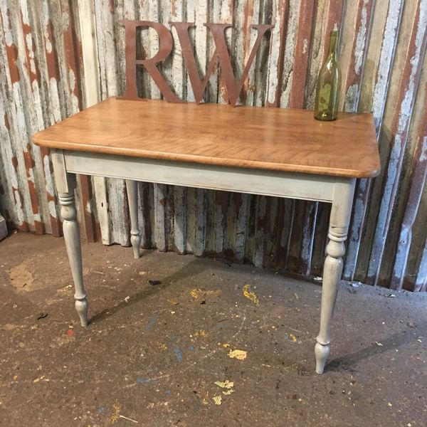 Rustic Pine Table Farmhouse Country Painted Kitchen Dining Desk