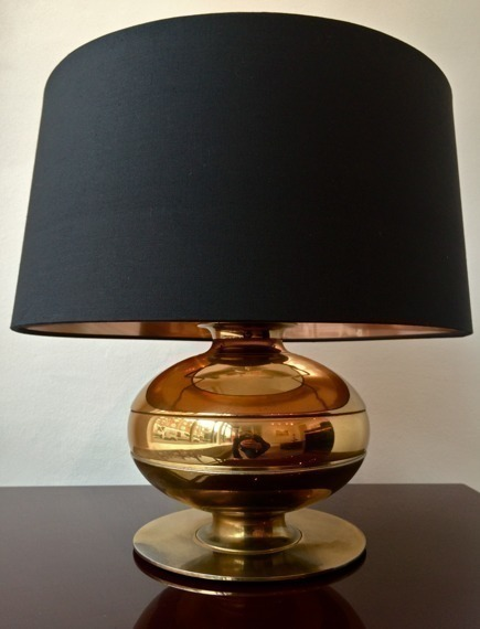 Pair Of Brass Italian Table Lamps By Luci