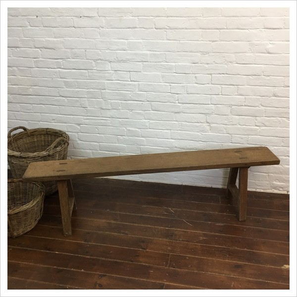 French Oak Church Pew Bench