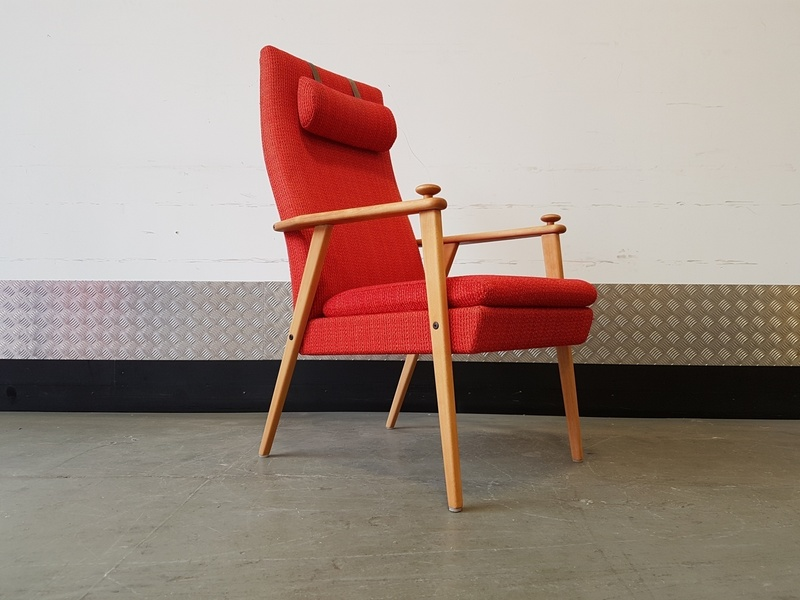 Broderna Johanson Swedish Long Back Armchair 1960's Design Mid Century