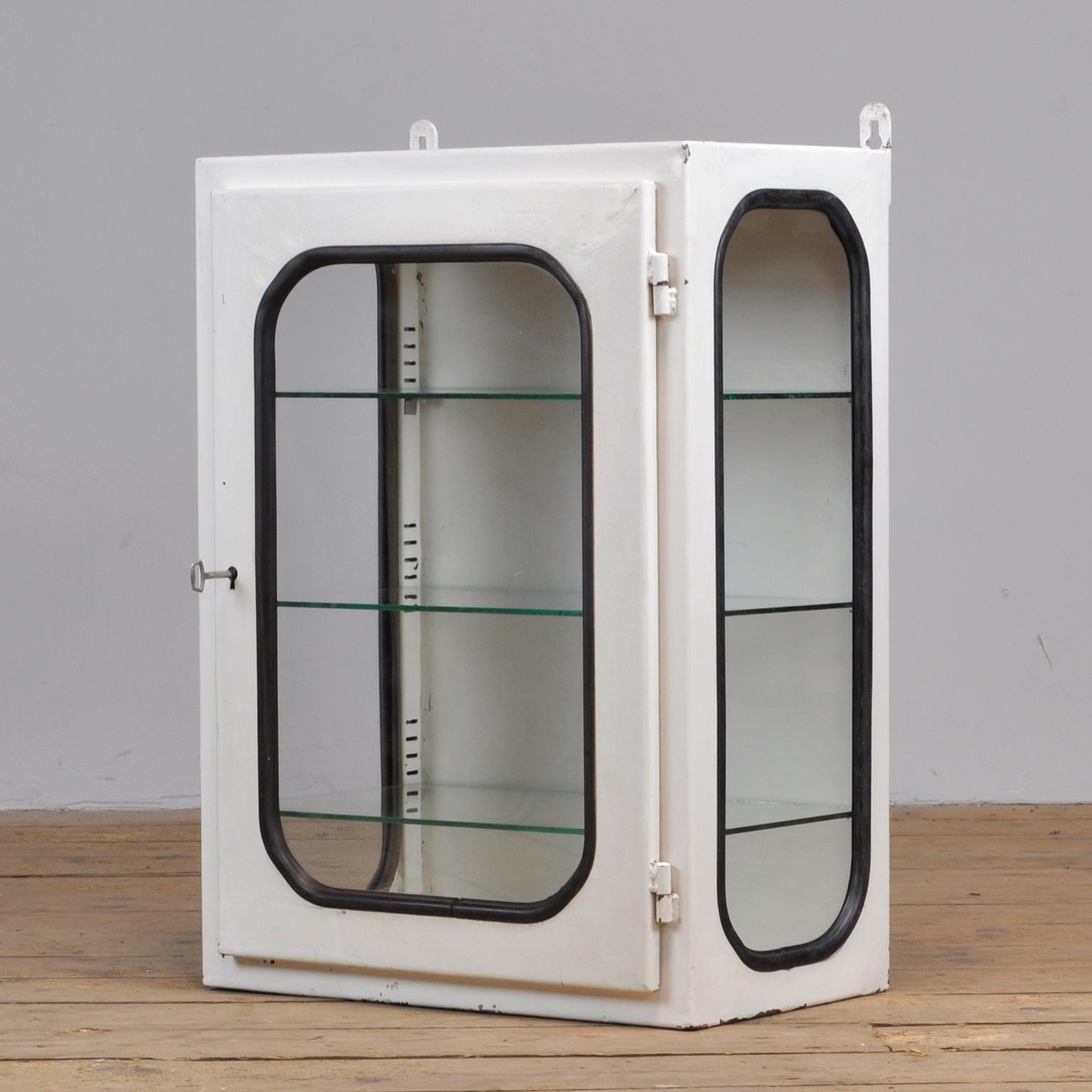 Small White Lacquered Medicine Cabinet 1970s Vinterior
