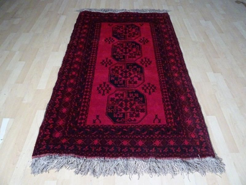 Wonderful Afghanistan Handmade Carpet Or  Rug   6ft X 3ft 8