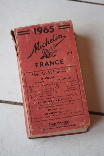 Vintage 1965 Original Michelin Guide To France